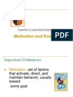 Huff 8e Lecture Note Ppt 12.Ppt Motivation and Emotion
