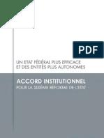 Accord institutionnel pour la sixième réforme de l'État