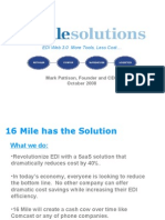 16 Mile Solutions Investor Presentation October 2008