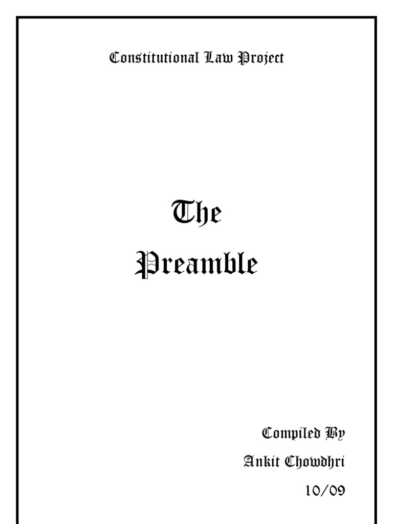 the preamble to the constitution of constitution