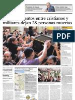 Enfrentamientos Entre Cristianos y Militares Dejan 28 Personas Muertas
