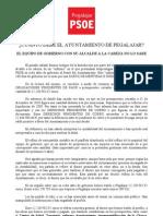 boletín PSOE sobre la Deuda en Pegalajar