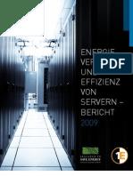 Bericht über Serverenergie und -effizienz