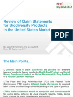 US Claim Statements Presentation (Josef Brinckman)