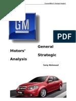 General Motors Strategic Analysis (for International Marketing)