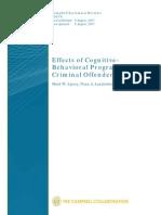 Terapia Cognitiva Conductual en Delincuentes Efectos