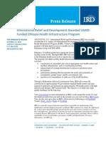 10-12 InternationalReliefandDevelopmentAwardedUSAID‐ FundedEthiopiaHealthInfrastructureProgram