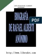 Anonimo - Biografia de Rafael Alberti