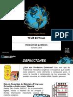 Temas Del Mes Octubre Productos Quimicos