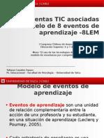 Herramientas TIC asociadas al modelo de 8 eventos de aprendizaje -8LEM