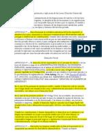 Principio de Interpretación y Aplicación de las Leyes_ Derecho Comercial