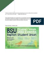 BSU Report September 2011