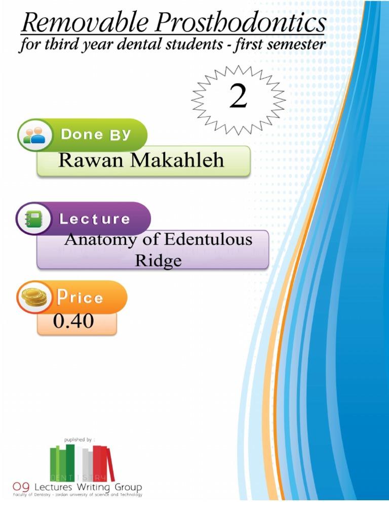 Prostho Lecture 2 ,Anatomy of Edentulous Ridge | Dentures | Lip