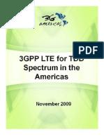 3GPP LTE for TDD Spectrum in the Americas - 4G Americas