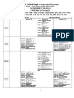 Proposed B. Tech. _all Branches_ Date Sheet December 2011