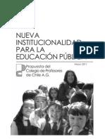 Propuesta Nueva Institucionalidad para la Educación Pública