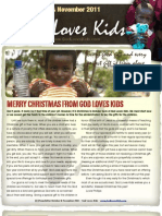 October & November God Loves Kids News Letter