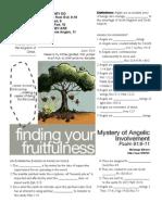 Fruitfulness 11 Psalm 91-9-11 Handout 101611