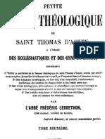 Petite somme théologique de Saint Thomas d Aquin (Tome 2)
