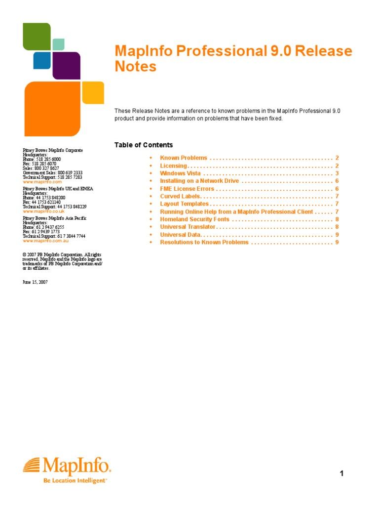Mapinfo pro 9 rn windows vista microsoft windows biocorpaavc Images