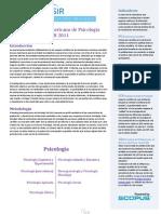 Ranking Iberoamericano de Psicología 2011