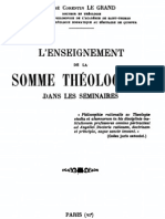 L'enseignement de La Somme Théologique dans Les Séminaires