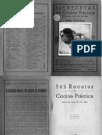 365 recetas de cocina practica (cocina española, recetario antiguo)