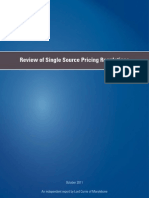 Review of single source pricing regulations
