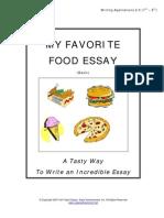 Favorite Food Essay VETO