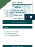BA Vorlesung PPP Teil2 Vergaberecht 2010 Mannheim