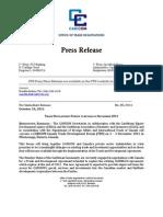 OTN Press_Release - Trade Development Forum - Oct 6 2011