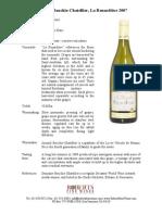 Bouchie Chatellier 2009 Pouilly Fume Fact Sheet PDF