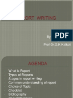 Report Writing -Pankaj