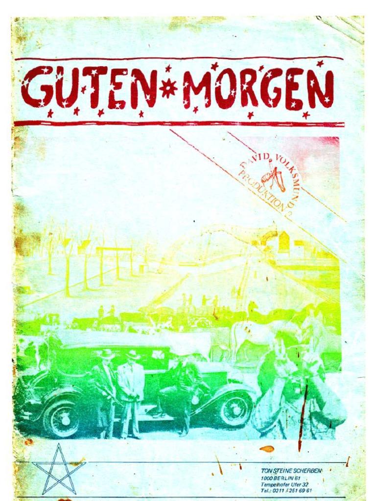 Guten Morgen Reader Von 1973 Von Ton Steine Scherben