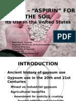 GYPSUM Aspirin for the Soil