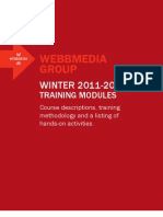 Webbmedia Group's Winter 2011-2012 Training Curriculum