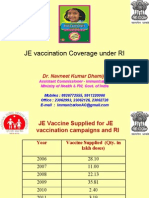 JE Vaccination Under RI - Coverage and Issues - WB