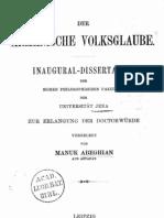 Abeghian 1899 Der Armenische Volksglaube