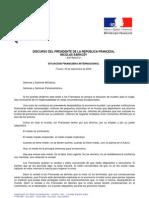 Discurso Nicolas Sarkozy - Toulon