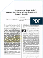 Disease and Depopulation in Colonial Spanish America
