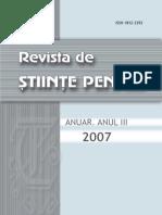 Revista de Stiinte Penal 2007