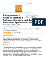 A Programmer's Guide to Starting a Software Company and Building an Enterprise Application - Article 1 - Code Project