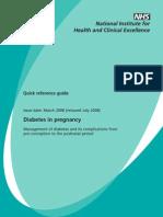 Diabetes in Pregnancy NICE