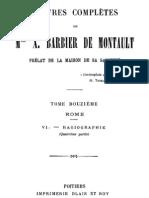 Oeuvres Completes de Mgr X.barbier de Montault (Tome 12)
