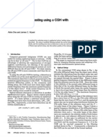 A Spherical Mirror Testing Using a CGH With Small Errors