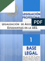 Pasos de Legalización  de Asociaciones Estudiantiles en la UES