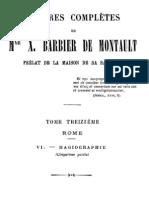 Oeuvres Completes de Mgr X.barbier de Montault (Tome 13)