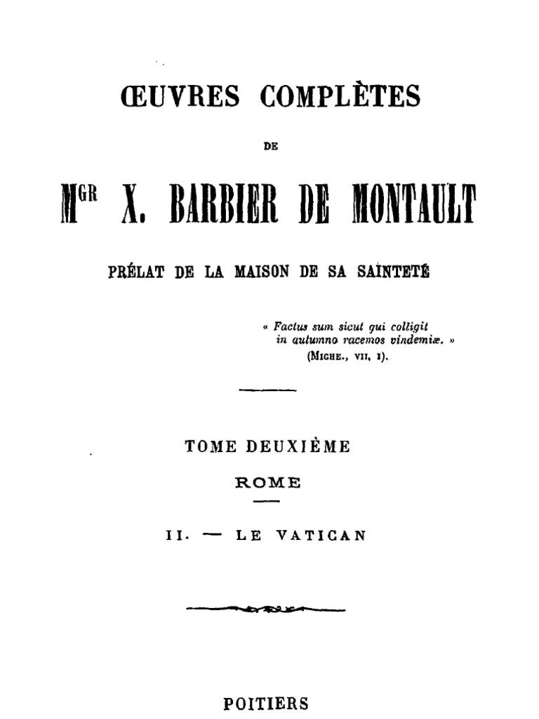1e4d282b1e4158 Oeuvres Completes de Mgr X.barbier de Montault (Tome 2)