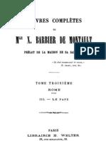 Oeuvres Completes de Mgr X.barbier de Montault (Tome 3)