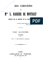 Oeuvres Completes de Mgr X.barbier de Montault (Tome 4)